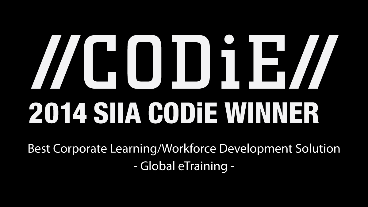 Global eTraining Wins SIIA Education CODiE Award