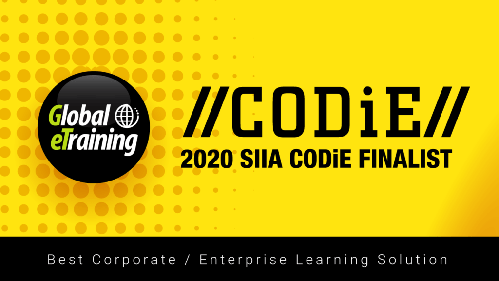 Global eTraining Named SIIA Business Technology Product CODiE Award Finalist