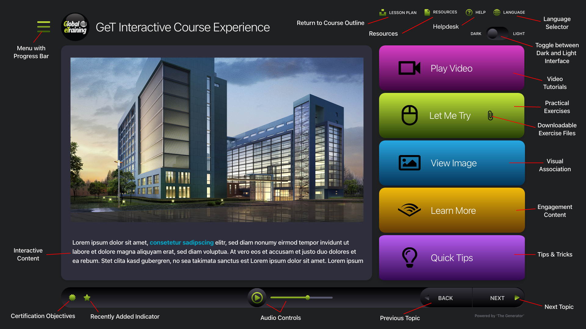 GeT Interactive Course Experience