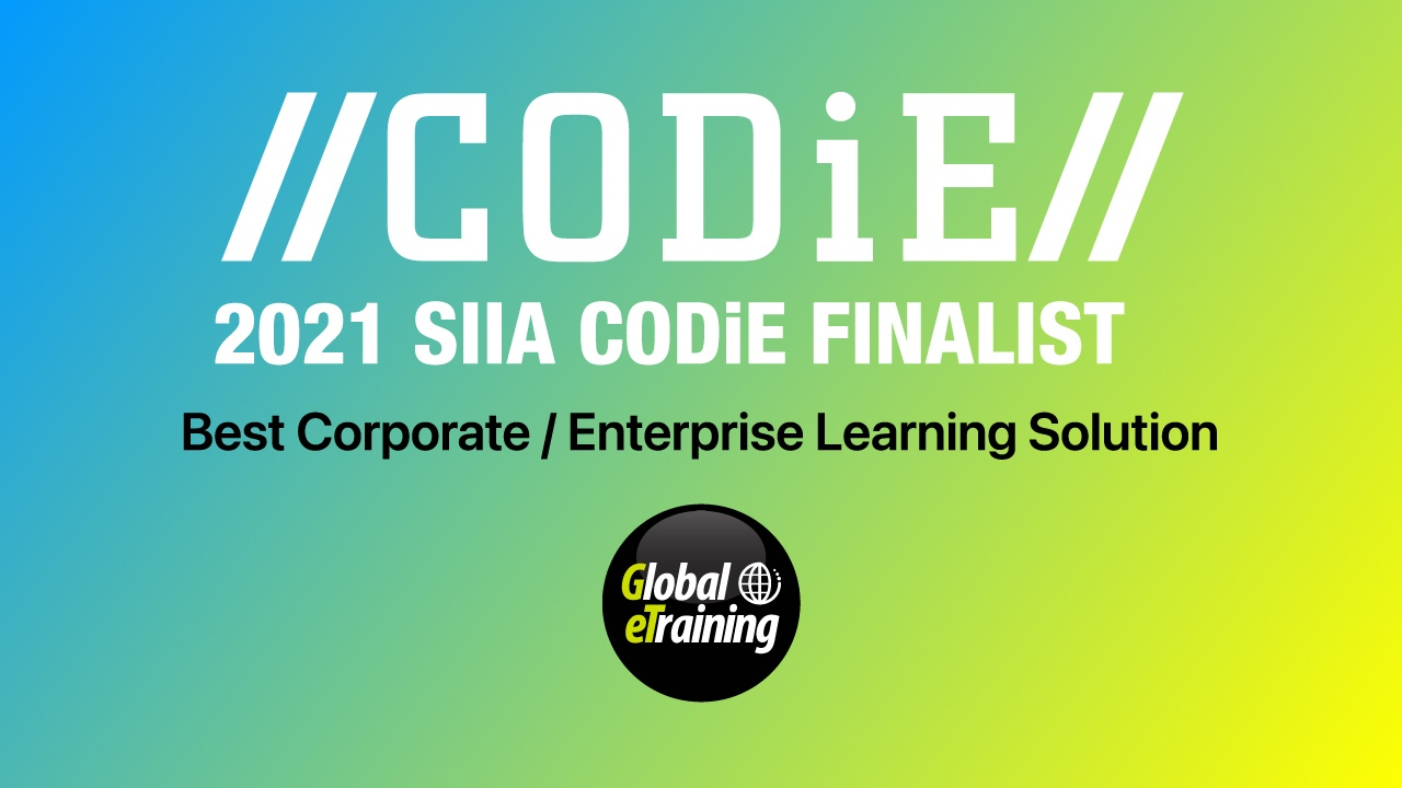 Global eTraining's 'The Generator' Named SIIA Business Technology Product CODiE Award Finalist for Best Corporate / Enterprise Learning Solution